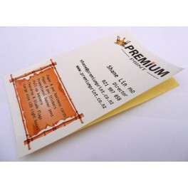 200 stickers business card size