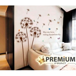 Brown Dandelion Wall Stickers