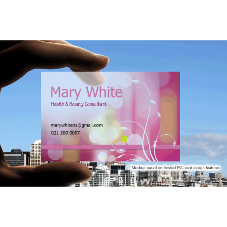 200 frosted pvc business cards premiumprint top quality httpspremiumprintimgp3 reheart Gallery